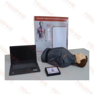 """""""Роман-06"""" Тренажер-манекен для отработки СЛР с контроллером, настенным табло и ноутбуком"""