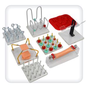 Пособия для отработки базовых лапароскопических навыков
