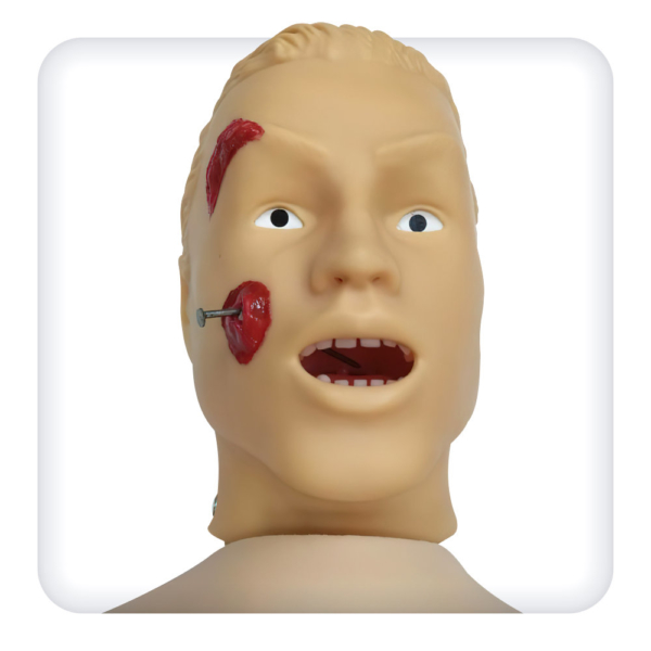 Тренажер-манекен для отработки навыков первой помощи со сменными модулями травм