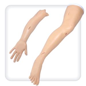 Комплект моделей руки и ноги для наложения швов