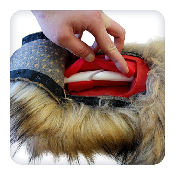 Модель задней лапы собаки с переломом бедренной кости