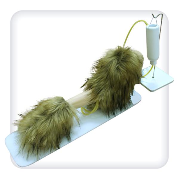 Тренажер левой грудной конечности собаки для отработки навыков внутривенных и внутримышечных инъекций