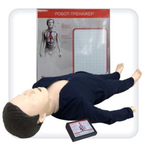 """Робот-тренажёр оказания первой помощи """"Тоша-05"""" с контроллером и анатомическим табло"""